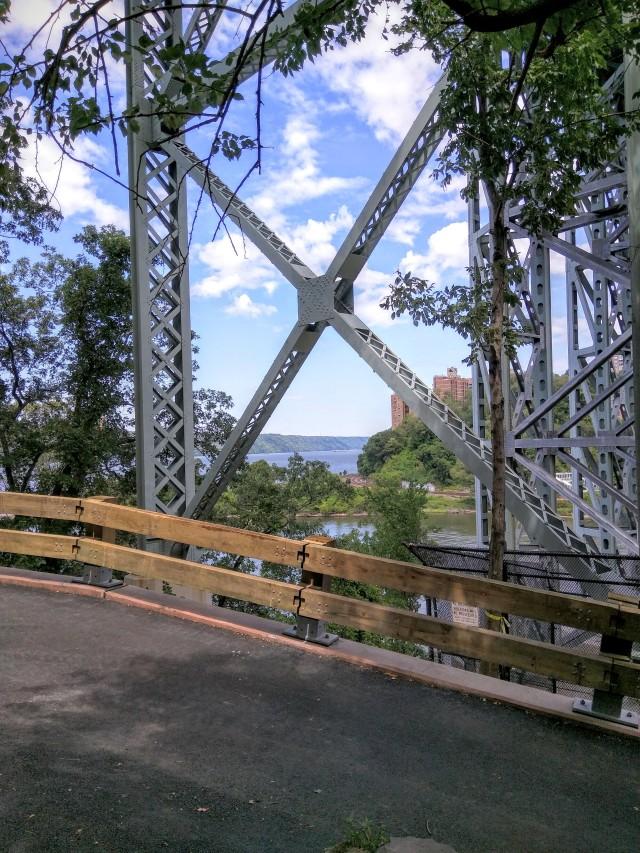 Underneath the Henry Hudson Bridge