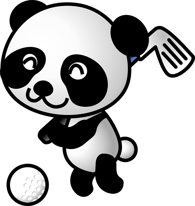 Free vector graphic: Panda, Golf, Animal, Bear, Sports - Free ...